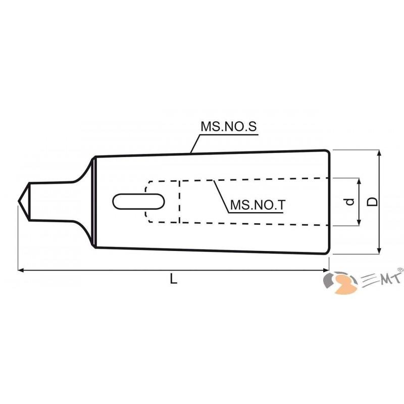 Ax pentru mandrina conica MK 4 / 3