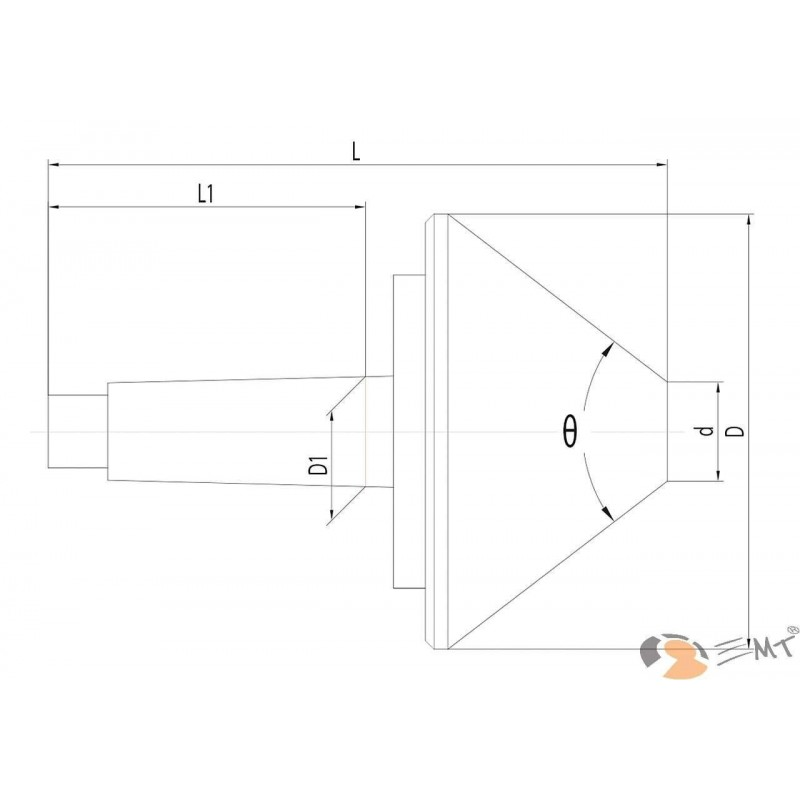 Varf de centrare - MK 3 / 100 mm