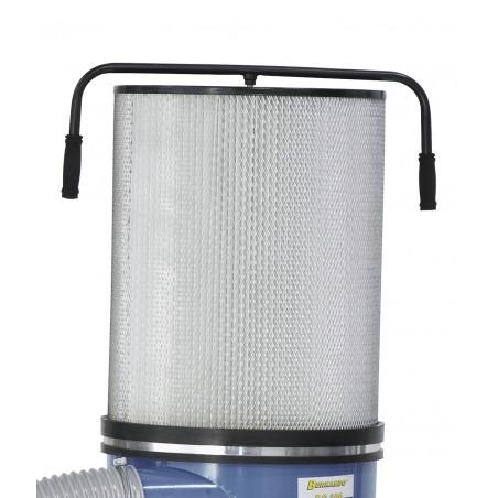 Cartus de filtrare (optional) creste puterea de aspirare printr-o suprafata mai mare de filtrare.