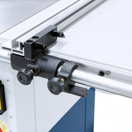 Opritorul paralel echipat cu o reglare de finete micrometrica poate fi utilizat pentru latimi de taiere de pana la 670 mm.