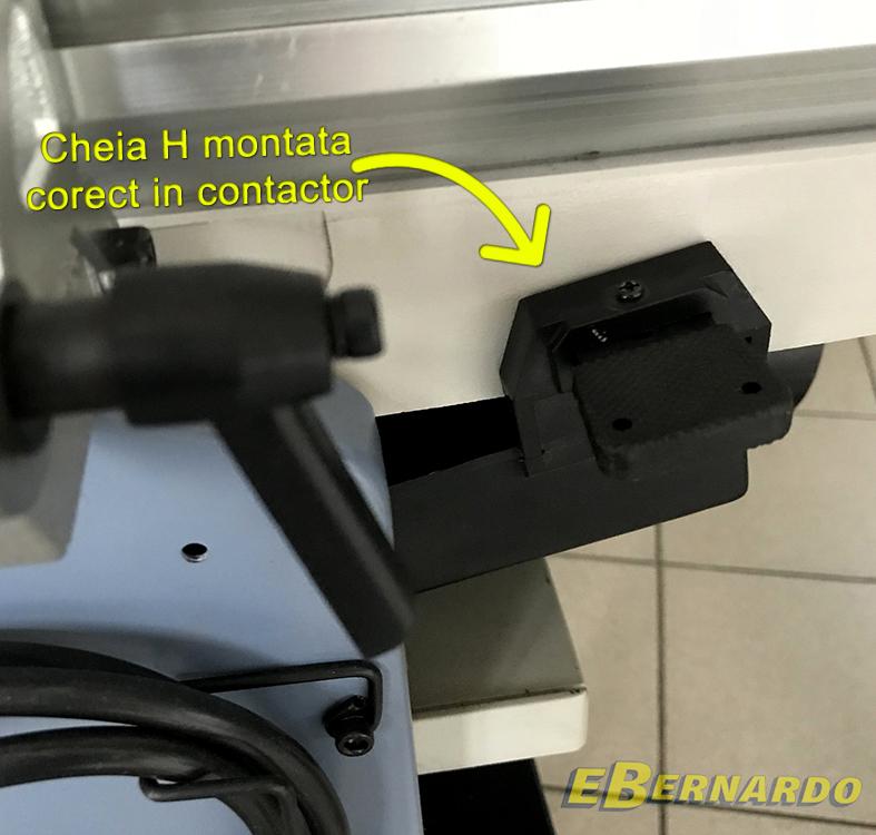 Cheia H montată corect în contactor pentru mașina de rindeluit și grosime Ebernardo.ro