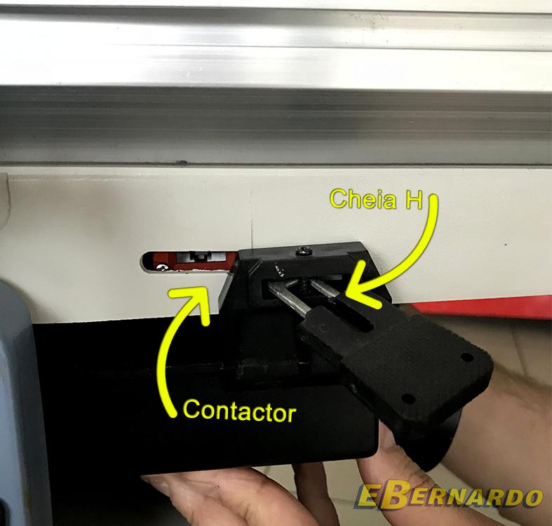 Montare contactor in cheia H pentru mașină de rindeluit și degroșat Bernardo