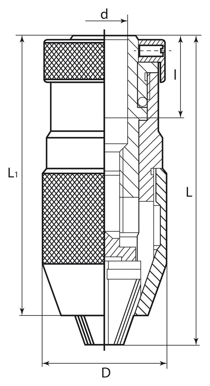 Schema mandrina cu prindere rapida cu con interior b 16
